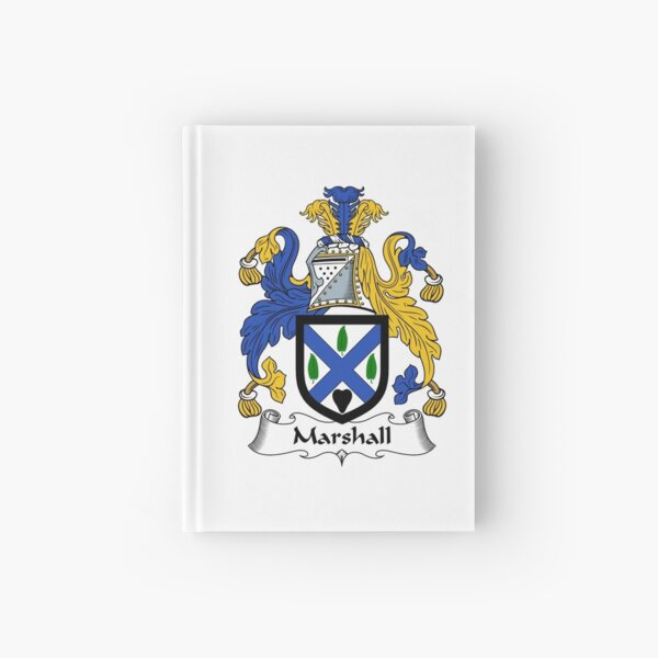 Marshall Coat of Arms / Marshall Family Crest Hardcover Journal