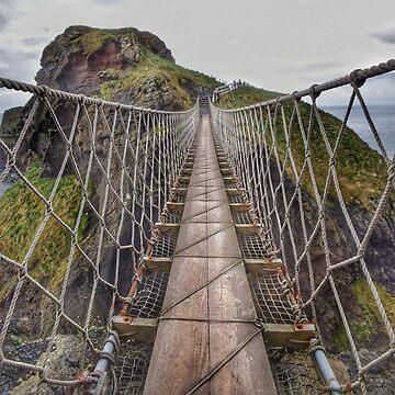 Carrick-a-Rede Rope Bridge, Northern Ireland by capitanochapman