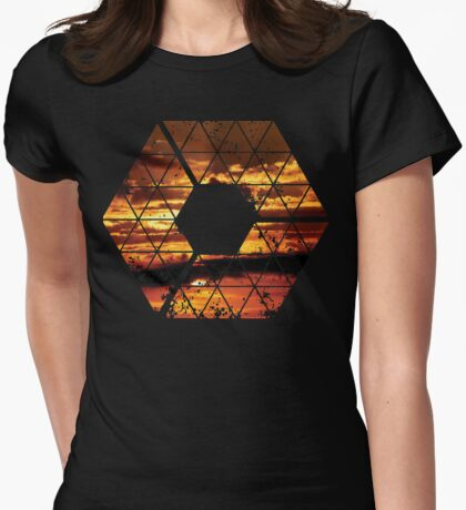C is for CLOUDS - Geometric Abstract Sunset Geometry Art T-Shirt