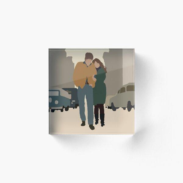 The Freewheelin Bob Dylan Album Cover Minimalistic Art Acrylic Block