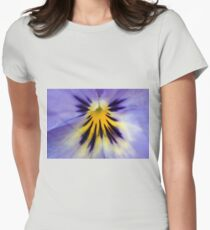 Pansy flower Womens Fitted T-Shirt