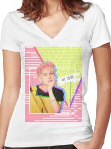 VIXX Ken Cute Blonde Main Vocal Women's Fitted V-Neck T-Shirt