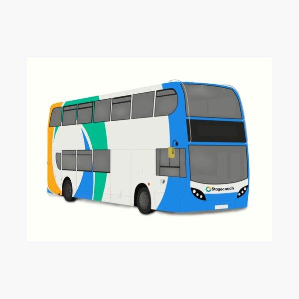 Stagecoach 'Azure Blue' E400 Art Print