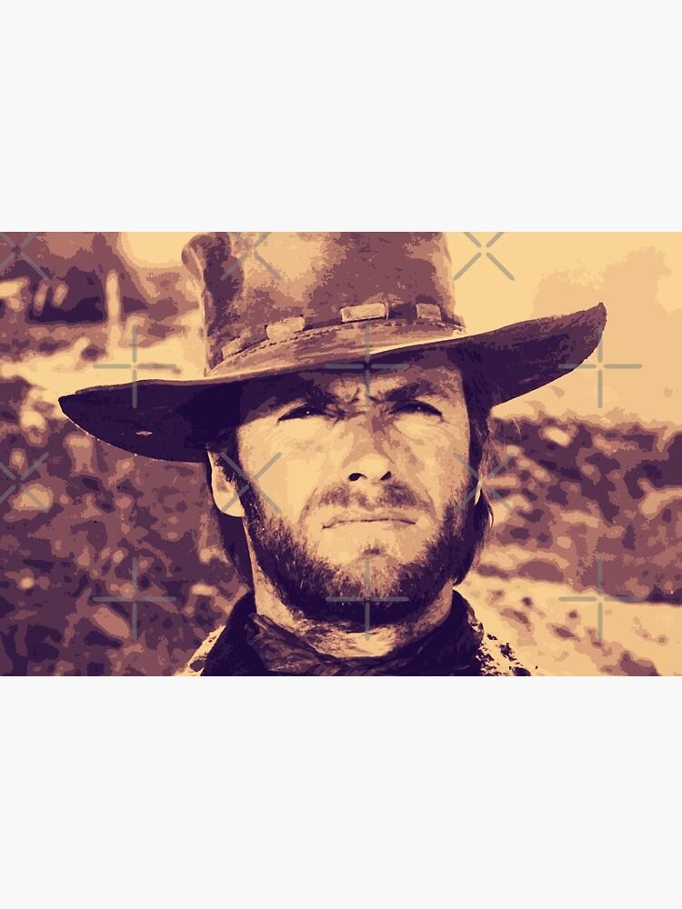 CLINT EASTWOOD - Clint Eastwood Cowby Hat Portrait Original Art by gologodesigns