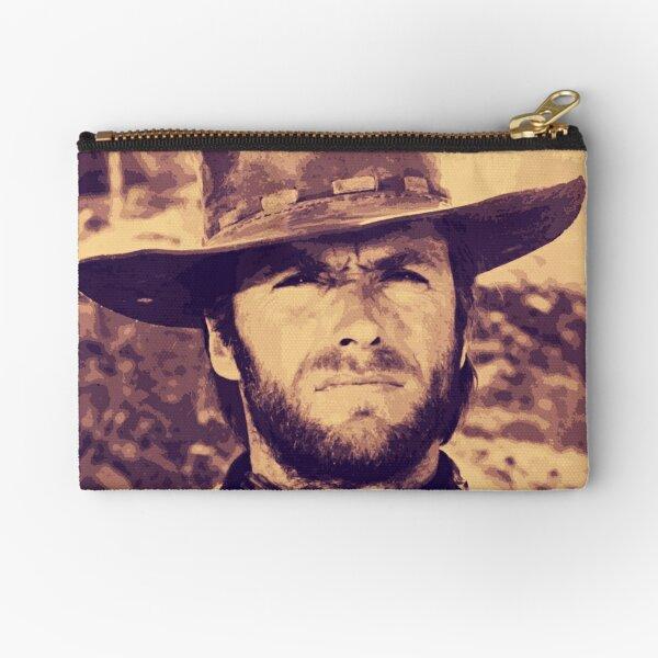CLINT EASTWOOD - Clint Eastwood Cowby Hat Portrait Original Art Zipper Pouch