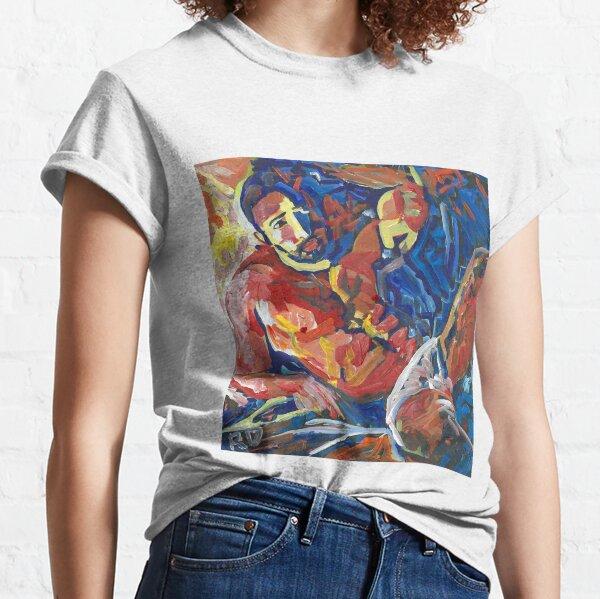 Naughty Boy Fireside, Sexy man picture, by RD Riccoboni Classic T-Shirt