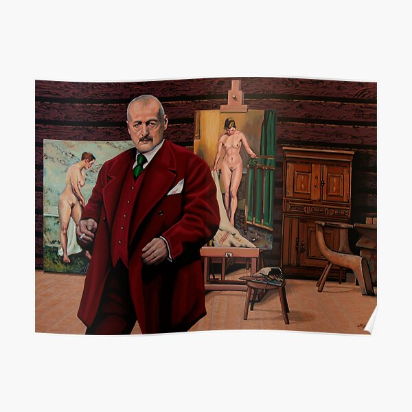 Atelier of Anders Zorn Painting Poster