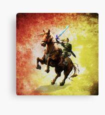 Legend Of Zelda Advanture Link Canvas Print