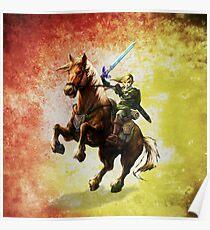 Legend Of Zelda Advanture Link Poster