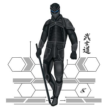 Cyber samurai complete with lines by salimgor