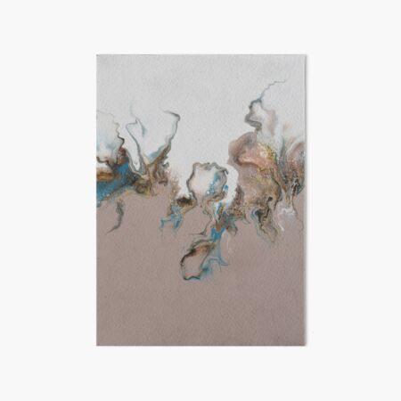 Dancing flames - original Dutch pour acrylic fluid art Art Board Print