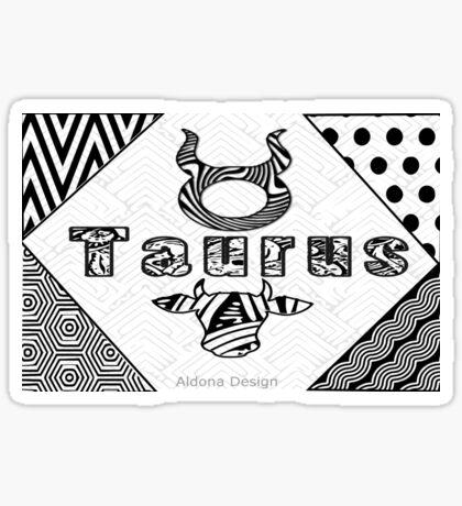 Taurus Doodle Art  (1516 Views) Sticker