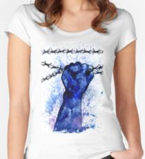 Hand with Barbed Wire 3 Women's Fitted Scoop T-Shirt