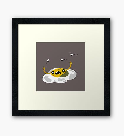 Egg Zombie Food Edition Framed Print