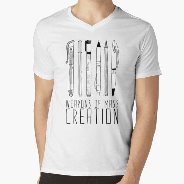 Waffen der Massenerschaffung T-Shirt mit V-Ausschnitt