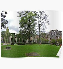 Church, Abbaye de Villers, Central Wallonia, Belgium Poster