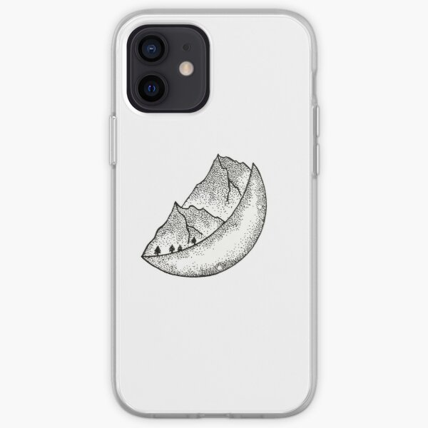 Moon Mountains  iPhone Soft Case