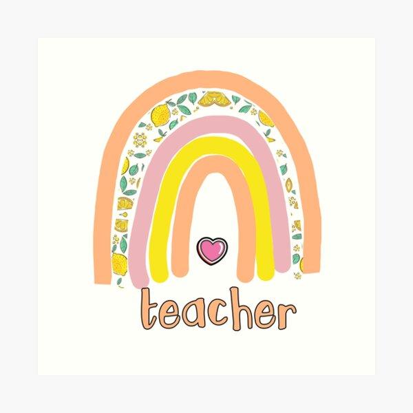 Teacher love Art Print