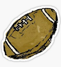 Sketchy Football Sticker