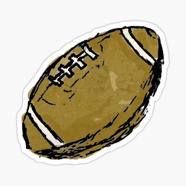 Sketchy Football Sticker