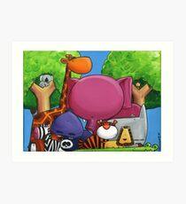 Splatter Zoo Art Print