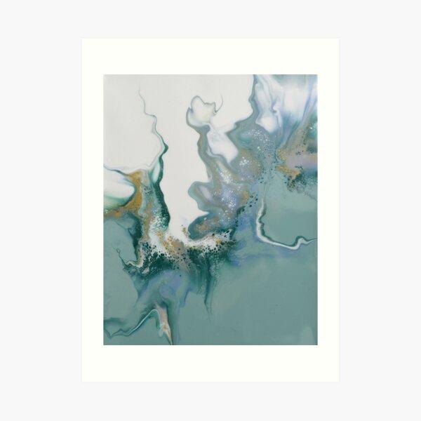Smokey flames - Dutch pour acrylic fluid art Art Print