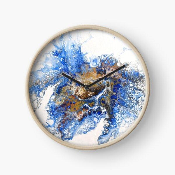 Color explosion - Dutch pour acrylic fluid art Clock