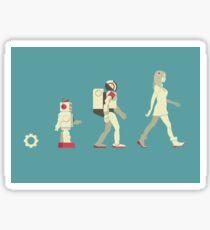 robot evolution Sticker