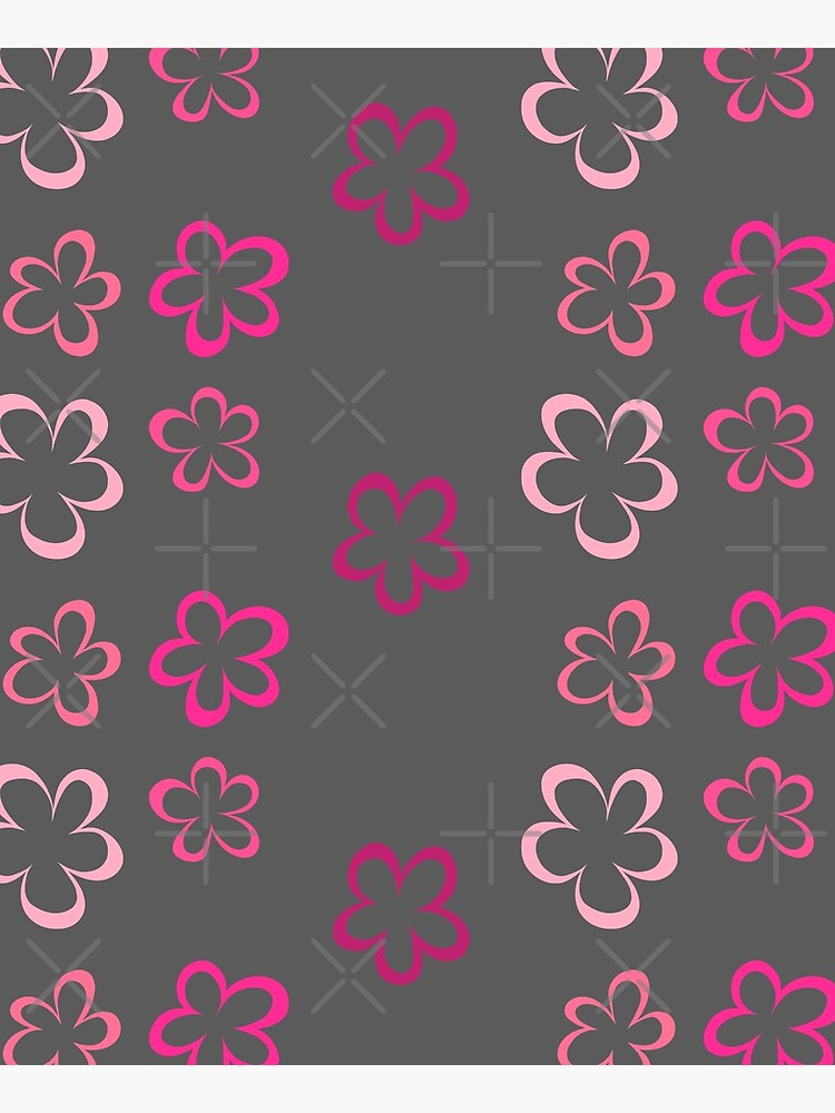 Funky Pink Retro Flowers Sticker Pack by that5280lady