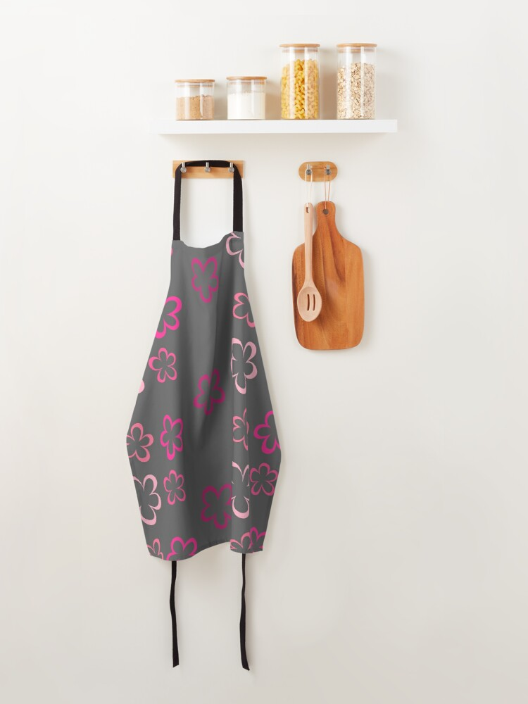 Alternate view of Funky Pink Retro Flowers Sticker Pack Apron