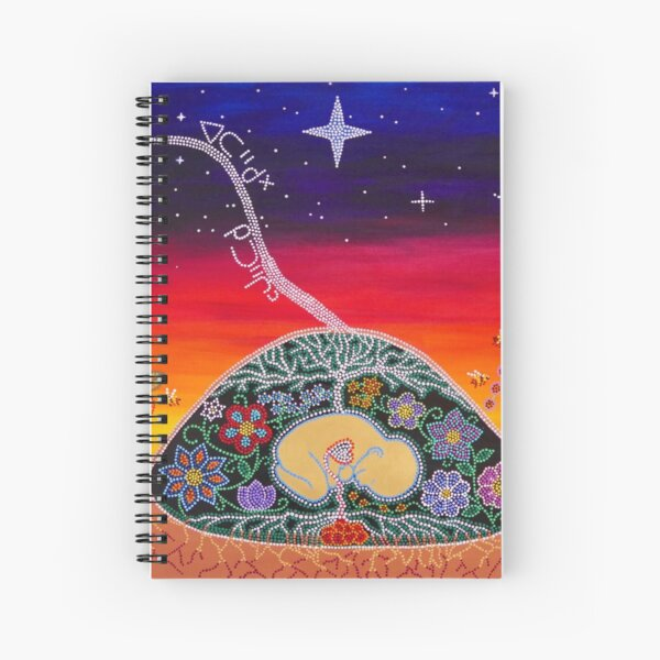 ᐊᑕᐦᑯᕽ  ᑭᑐᐦᒌᐣ ~ atahkohk kitohcîn ~ you come from the stars Spiral Notebook