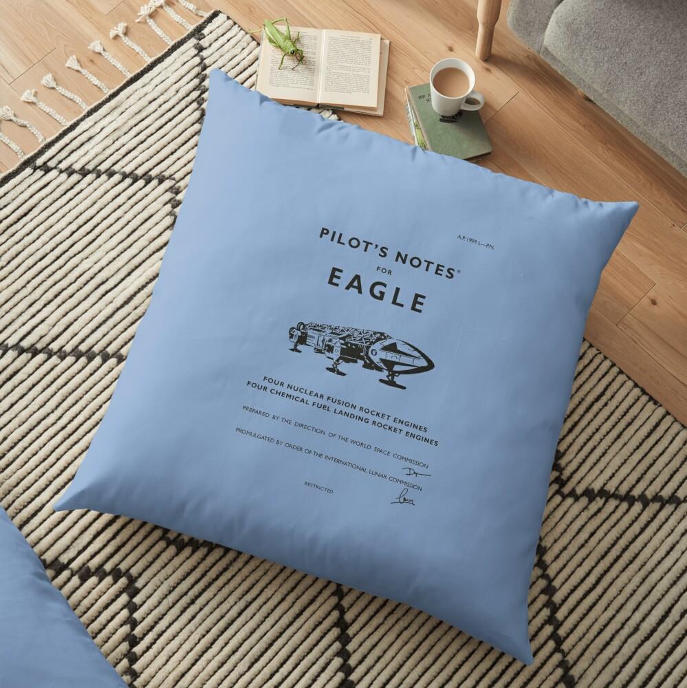 Pilot's Notes for Eagle Floor Pillow
