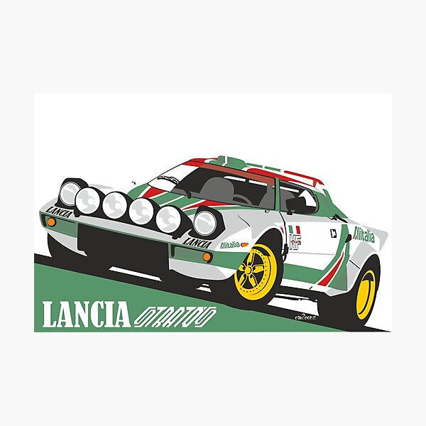Lancia Stratos HF Alitalia livery Photographic Print