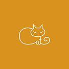 Cat Minimalist Text Art Typography by zachsymartsy