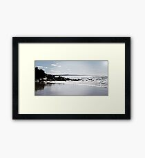a speckled sea..... Framed Print