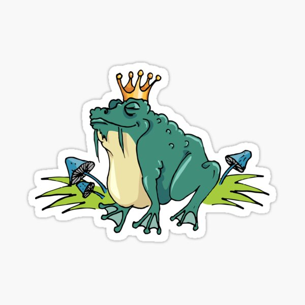 Mighty toad Sticker