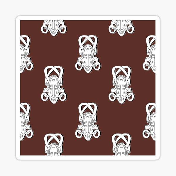 Senufo Mask pattern novies - Ivory Coast Sticker