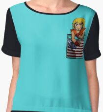 Street Fighter Pocket Pals - #2 Ken Women's Chiffon Top