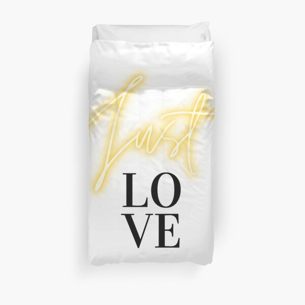 Just love, set your intention on love Duvet Cover