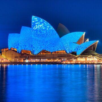 Rhapsody in Blue - Sydney Opera House by eschlogl