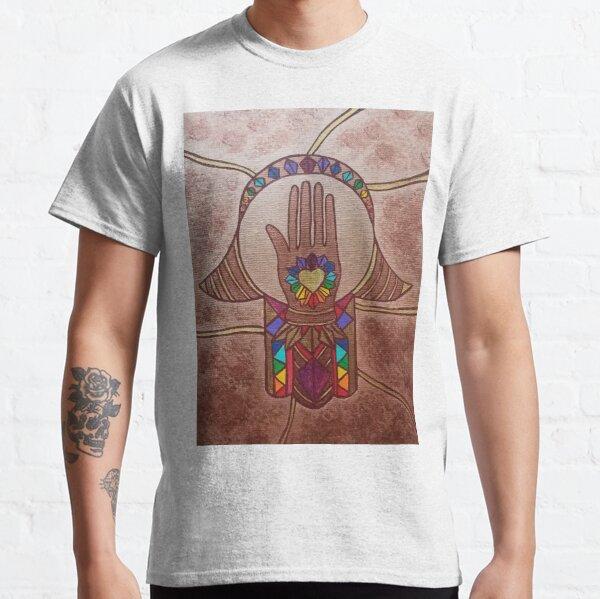 Hand in Hand Hamsa by Harriette Knight Classic T-Shirt