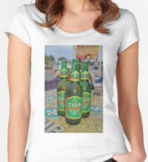 Club Beer from Ghana, Accra. Once founded in British Gold Coast Women's Fitted Scoop T-Shirt