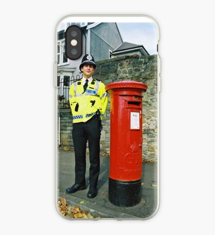 Bobby Policeman in Wales, Very British photography iPhone Case