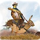 Turtle Cowboy Riding His Hare by LuckyTortoise