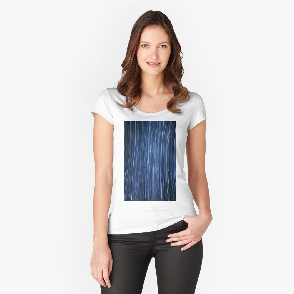 Light lines Women's Fitted Scoop T-Shirt Front
