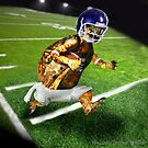 Turtle Football Player by LuckyTortoise