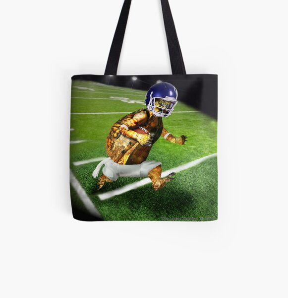 Turtle Football Player All Over Print Tote Bag