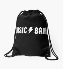 30 rock black Drawstring Bag