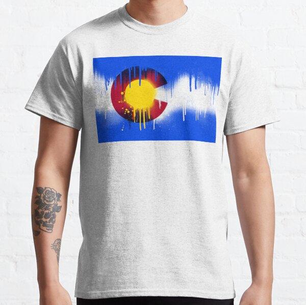 Drippy Colorado Flag Classic T-Shirt