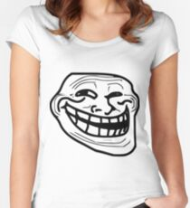 Troll Face - Meme - Internet Troll Women's Fitted Scoop T-Shirt